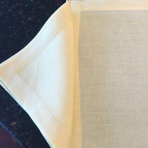 Linen placemats and napkins. Set of 6.